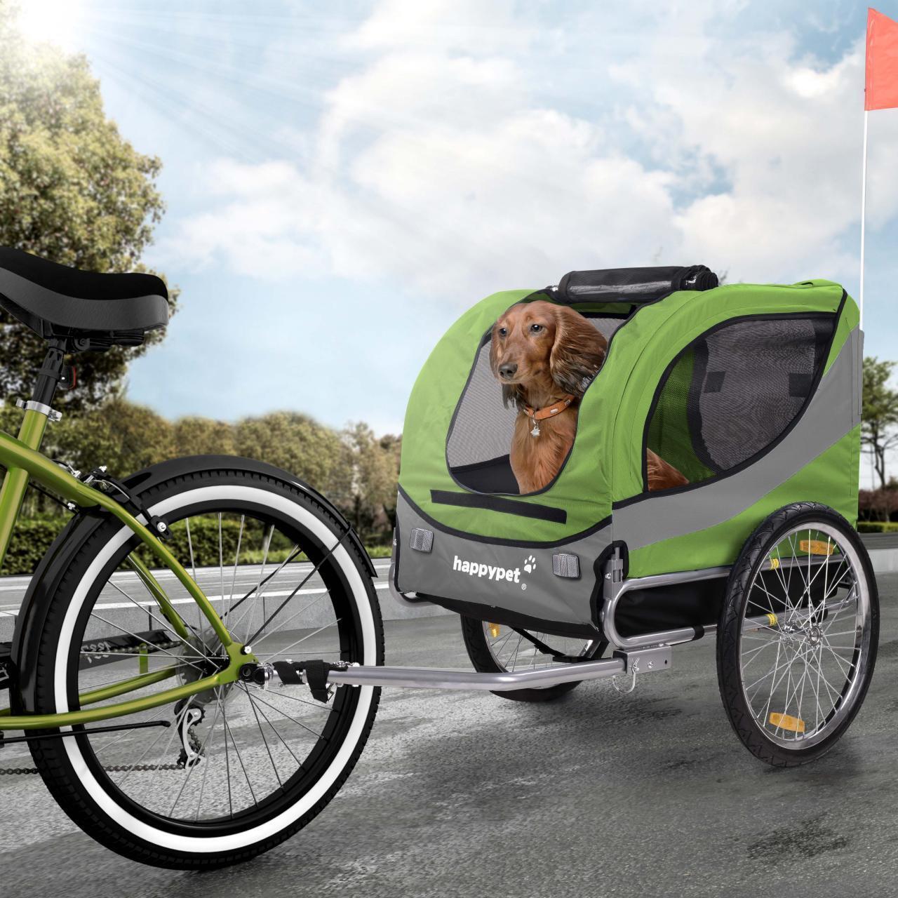 HAPPYPET Fahrradanhänger für Hunde Anhänger