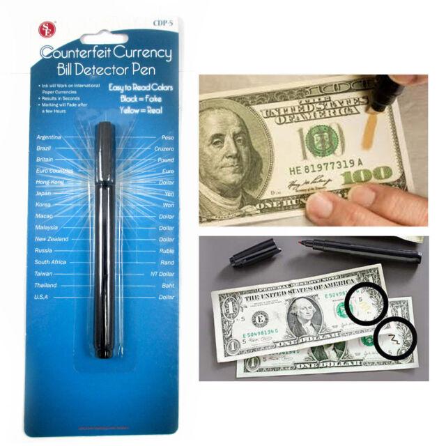 Smart Money Counterfeit Detector Tester Marker Pen Use On Fake Bills Checker !