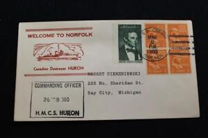 Naval-Cubierta-1960-Barco-Cancelado-Welcome-Norfolk-Canadiense-Destructor-Huron