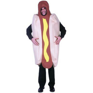 HOT-DOG-COSTUME-FUNNY-FANCY-DRESS-MENS-WOMENS-ADULT-PARTY-HALLOWEEN