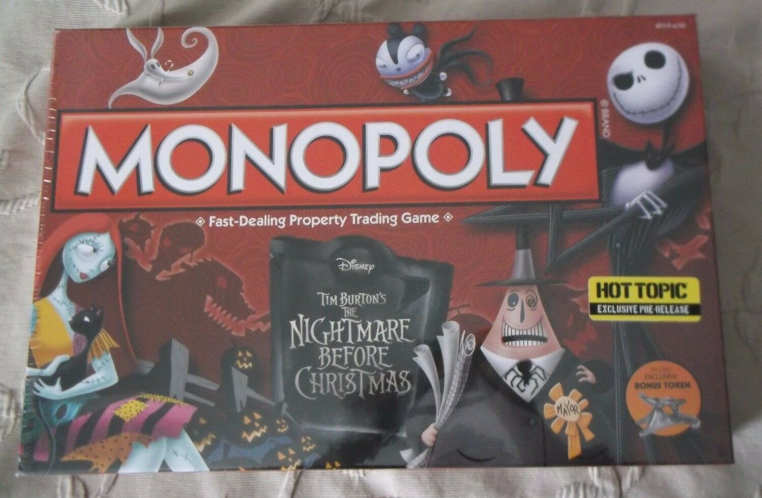 Monopoly The Nightmare Before Christmas Board Game Hot Topic Pre Exclusive NIB
