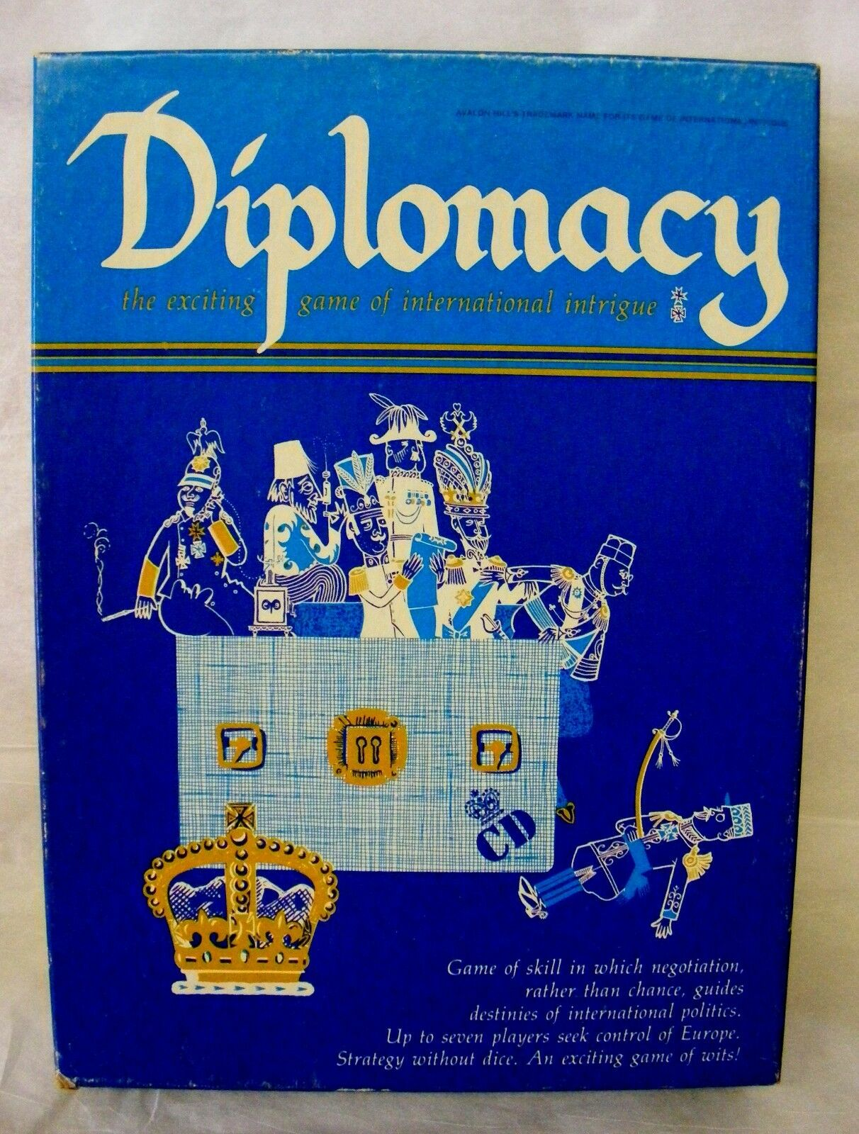 VINTAGE    DIPLOMACY  -1976  Board Game, Avalon Hill, Seek Control Of Europe
