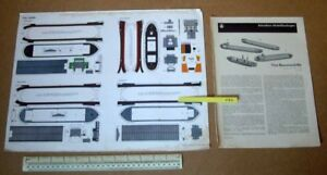 Tug-Boat-amp-Barges-JFS-Schreiber-Paper-Model-Cut-Out-Kit-1960s-Vintage-286