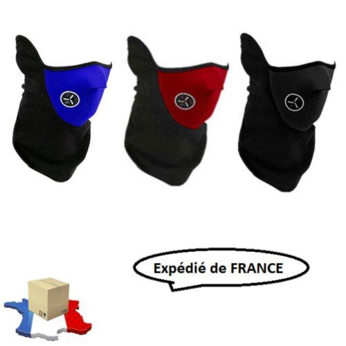 Cagoule//Masque//Tour Cou//Anti Froid Moto Scooter Ski Néoprène+Polaire 3 Coloris
