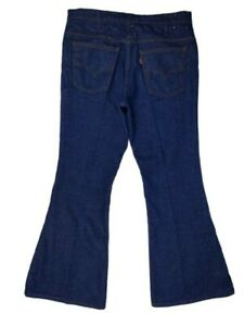 Vtg-Levis-684-0217-Orange-Tab-36-x-31-Big-Bell-Bottom-Jeans-Made-in-the-USA-Blue
