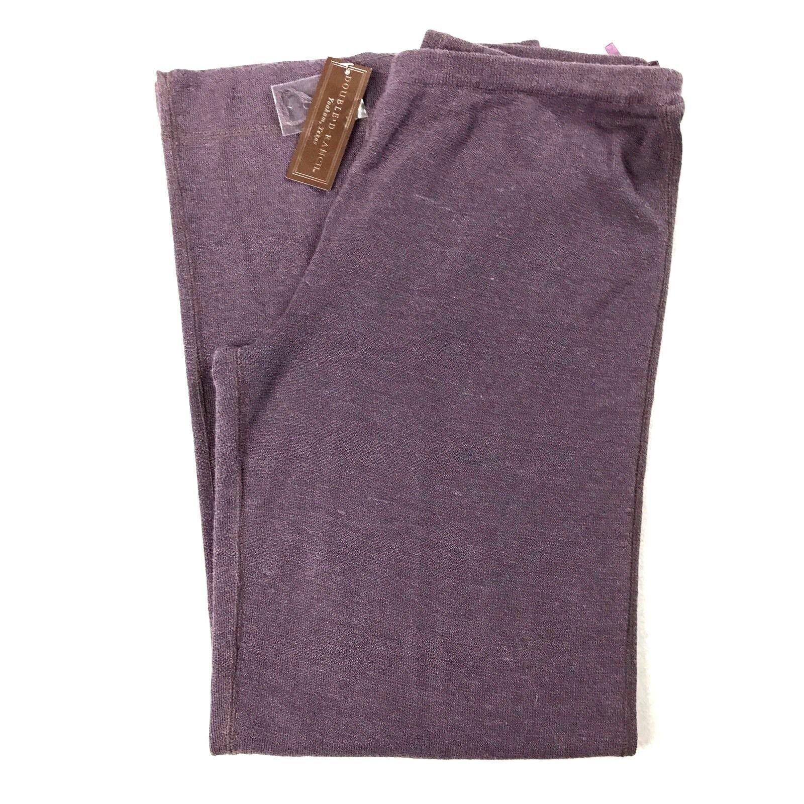 Double D Ranch Womens Pants Linen Blend Palazzo Pants Purple NWT Large