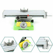 Mini 2 Axis Compound Milling Machine Work Table Xy Cross Slide Bench Drill Vise