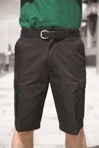 """Guerrier Homme en Polycoton Cargo Work Shorts pantalon noir ou bleu marine 28"""" à 52""""-afficher le titre d`origine K79PrHIX-07141811-550423693"""