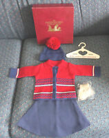 Rare American Girl Kit's Tree House Outfit Complete Treehouse Burgundy Box