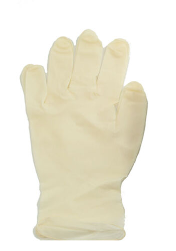 Disposable Latex Gloves Pre-Powdered Hygenic Gloves Medium Size 100 Pieces