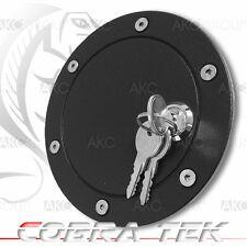 Cobra Tek For 2004-2008 Ford F150 Key Lock Black Powder Aluminum Fuel Gas Door