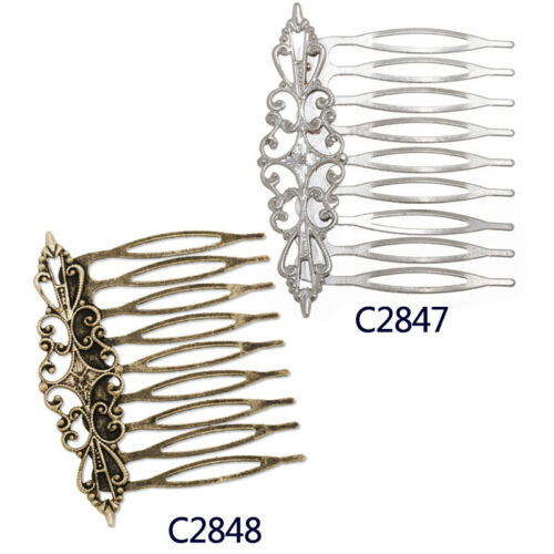 20Pcs 57*45MM Bobby Hair Pin Clip Barrette Blanks with Bezel Hairpin Findings