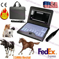 Notebook Veterinary B-ultrasound Diagnostic System 7.5 Mhz Animal Rectal Probe