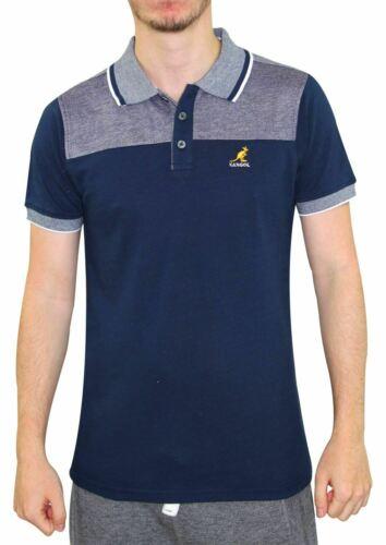 Mens T Shirts KANGOL Pique Polo Shirt Summer Contraste Tops Multi-Color S-2XL
