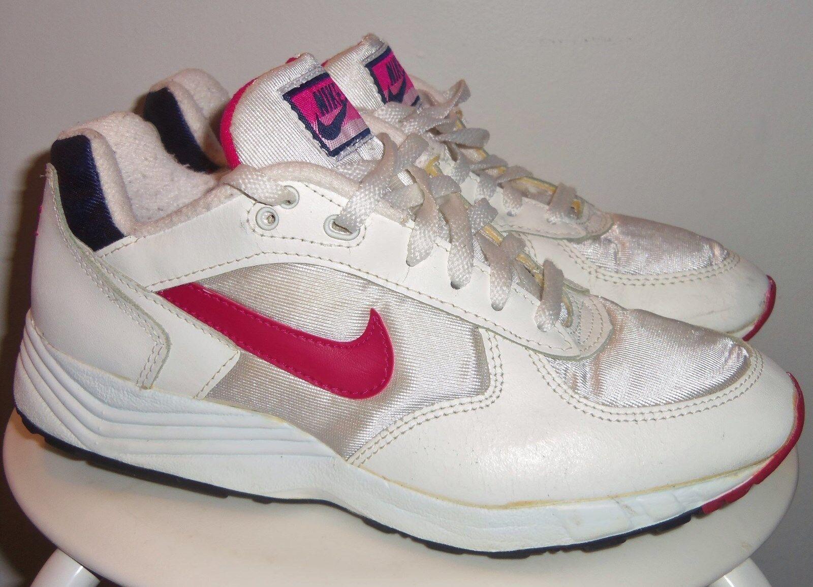 VINTAGE 1993 NIKE OG WMNS (WHITE  MAGENTA  NAVY) RUNNING SHOES 9 (CLEAN) 90's