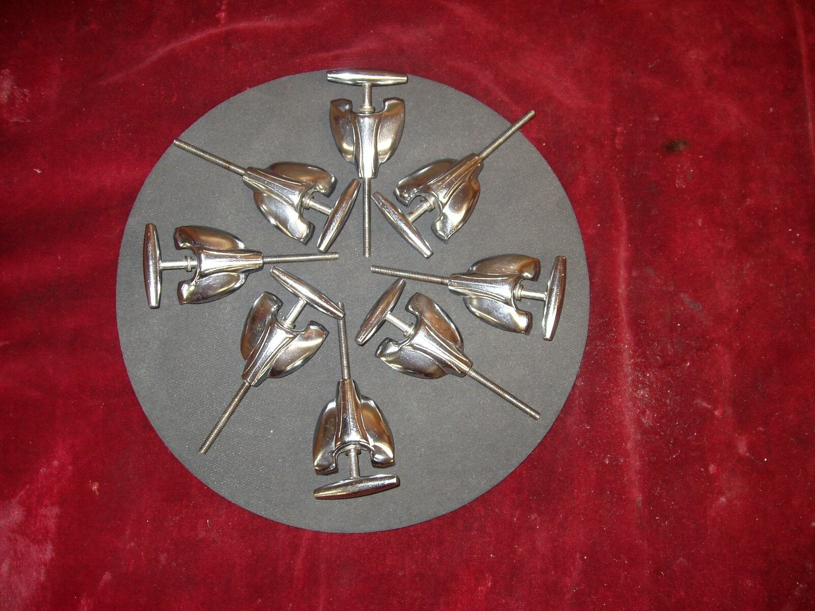 Vintage Gretsch Bass Drum T-Rods & Claws Set Of 8 Round Badge '50's-60's  rotuc.