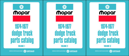 Dodge Truck Parts Book 1974 1975 1976 1977 Pickup Power Wagon Ramcharger