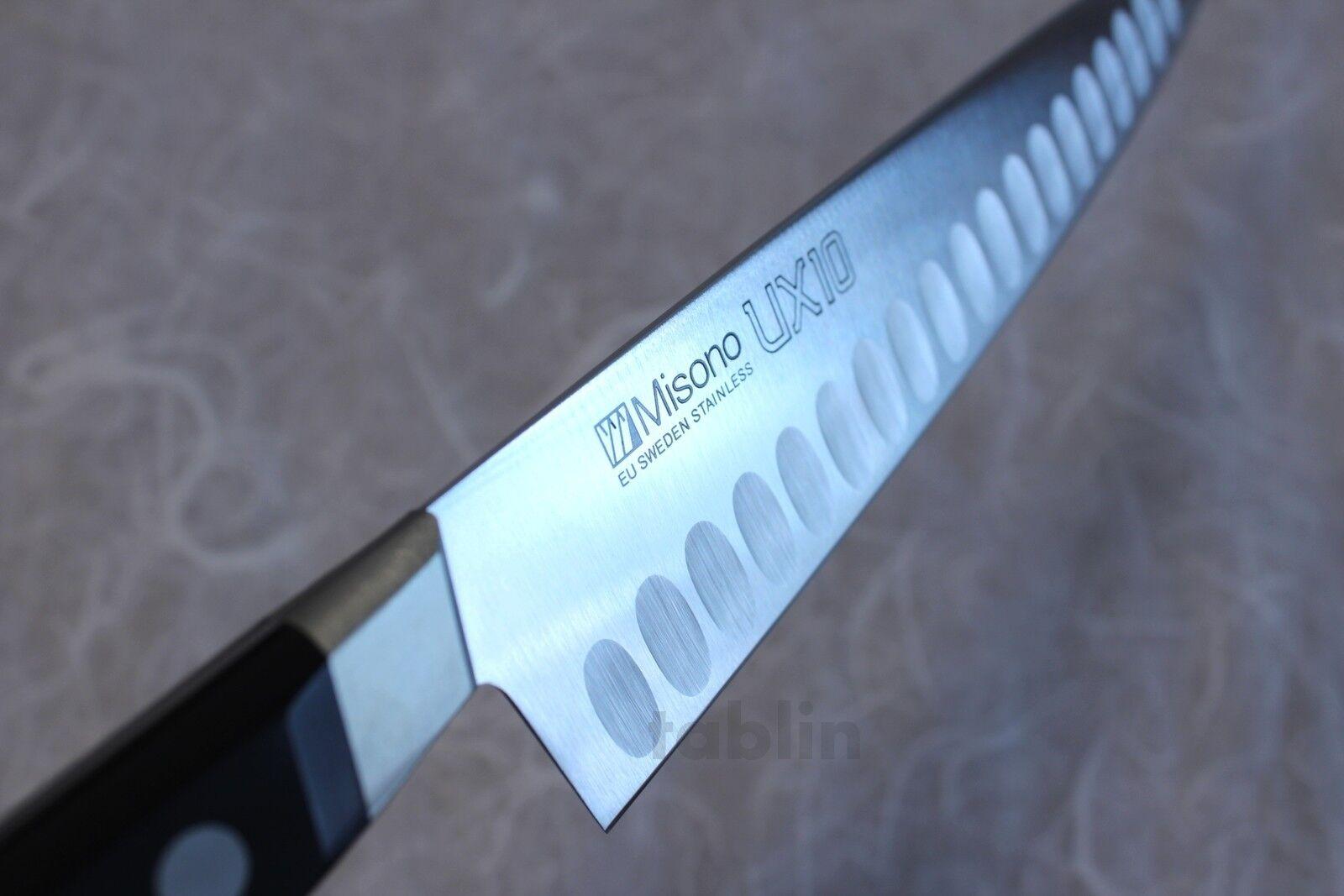 Misono UX10 Suède inox cuisine japonaise couteau saumon Dimple Gyuto chef