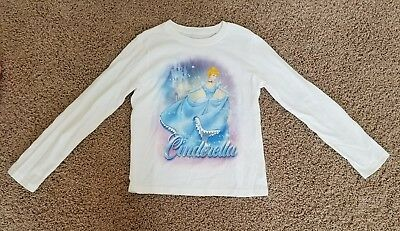 Disney Store Cinderella  Tee Shirt Long Sleeve 5//6,7//8 Girls NEW