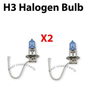 Details about EZGO, Club Car, Yamaha Golf Cart H3 Headlight Blue Bulb  Halogen (2) BULBS