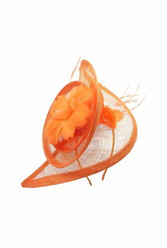 Large Flower Feather Hair Hat Fascinator Headband Clip Wedding Royal Ascot Race