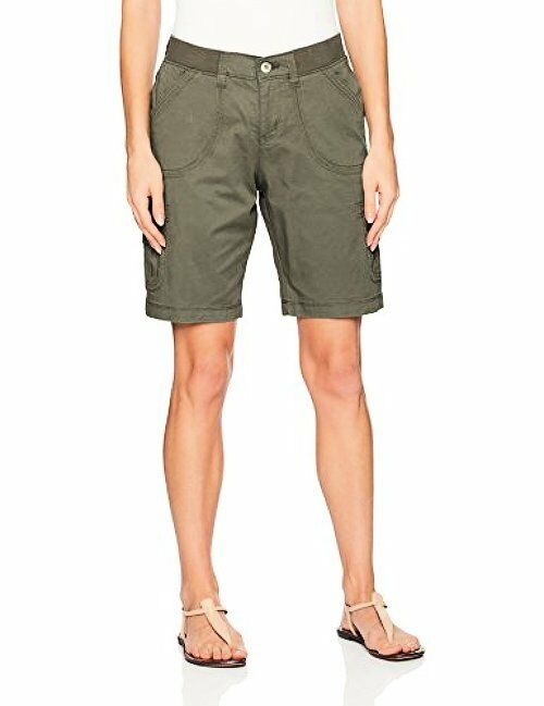 Lee Womens Collection Relaxed Fit Diani Knit Waist Bermuda Short
