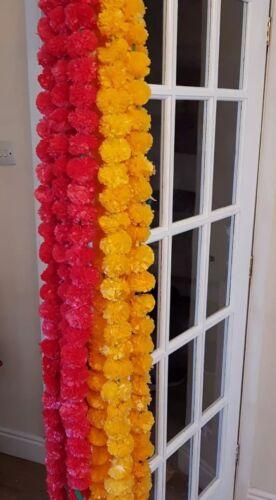 5 Feet Artificial Marigold Flowers Garlands Home Wedding Decoration Pack Of 5