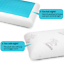 Gel-Memory-Foam-Pillow-Cool-with-Zipped-Washable-Breathable-Bamboo-Duck-amp-Goose thumbnail 2