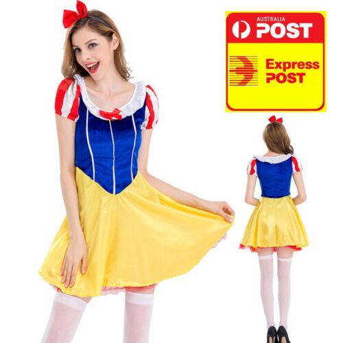 Classic Snow White Adult Halloween Party Dress M 8-10