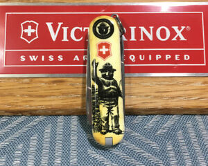 RARE-Limited-Edition-Victorinox-Swiss-Army-Classic-SD-Knife-Smokey-The-Bear