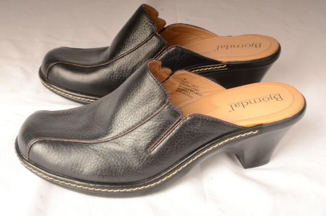 Bjorndal Womens Mules Sz 7 M Slides Heels Slip Ons