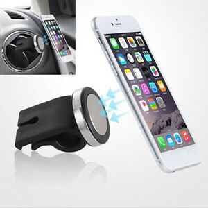 Car-Auto-Air-Vent-Magnetic-Phone-GPS-MP3-Holder-Mount-Stand-Black-Accessories