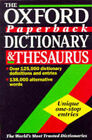 The Oxford Paperback Dictionary and Thesaurus by Oxford University Press (Paperback, 1997)