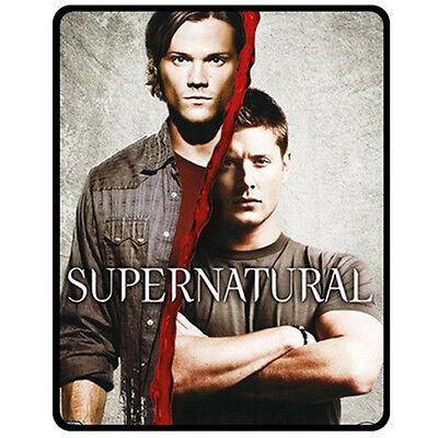 "Supernatural: Sam & Dean Medium Fleece Blanket (50"" x 60"")-NEW"