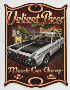 VALIANT-PACER-GOLDEN-FLEECE-MUSCLE-CAR-GARAGE-OPEN-24-HRS-Metal-Sign-360X455