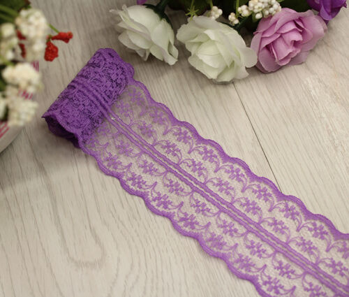 Vintage Crochet Embroidered Trimming Sewing Lace Trim Ribbon Craft B074
