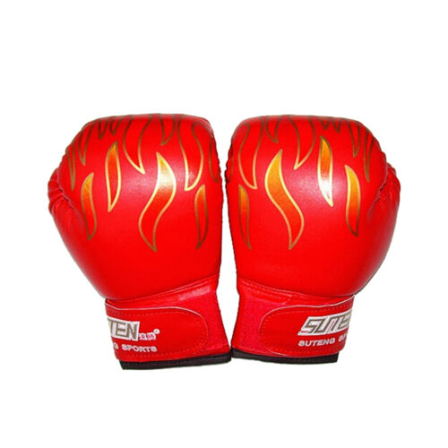 Children Kids FIRE Boxing Gloves Sparring Punching Fight Training Age 3-12 BITPF