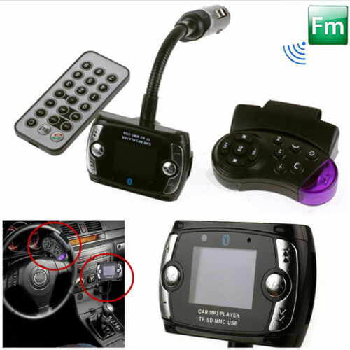 BT LCD Car Kit MP3 Player FM Transmitter Modulator USB Wireless Remote US