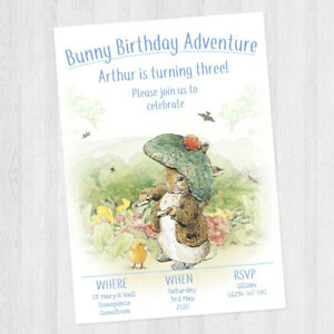 10 x personalised peter rabbit benjamin bunny birthday party image is loading 10 x personalised peter rabbit benjamin bunny birthday filmwisefo