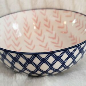 Prima-Design-Cereal-Salad-Decorative-Bowl-Pink-In-Dark-Blue-Out-Design-Beautiful