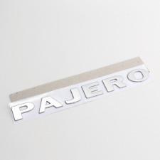 Chrome Pajero Tailgate Decal Fender Side Door Badge Emblem For Mitsubishi Fits 1998 Mitsubishi