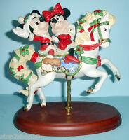 Lenox Disney Mickey's Christmas Carousel Horse & Minnie Mouse Figurine Coa