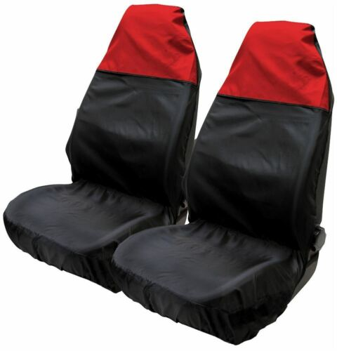 Red /& Black Water Resistant Front Seat Covers fits Jeep Cherokee 01-10