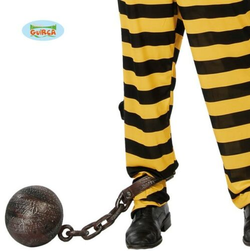 Robe fantaisie aspect vieilli Balle /& Chaîne De Bagnard Prisonnier STAG HEN FG