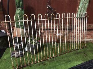 Wrought iron railings loop top