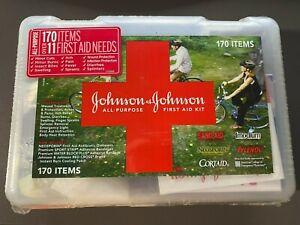 BRAND NEW SEALED JOHNSON & JOHNSON ALL PURPOSE FIRST AID KIT 170 ITEMS