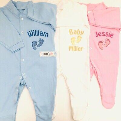 Princess Name Baby Grow Gift Newborn Christening Girl Boy Personalised Prince