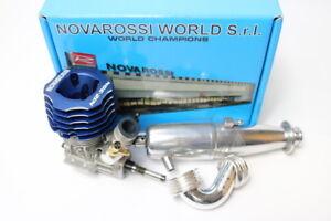 Novarossi N12-3on 2.1cc .12 Nitro Touring Engine W// pipe /& 41615 manifold set