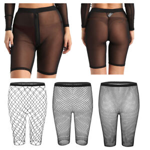 a890d03979b Image is loading Women-Transparent-Hot-Pants-Shorts-Leggings-Silky-Sheer-