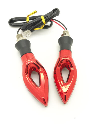 Motorbike Motorcyle coloured LED indicators front rear back small amber blinkers